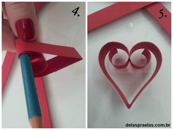corações-papel-dobradura
